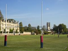 rugby fields of oxford - stock photo