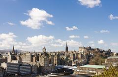 Skyline of Edinburgh, Scotland Stock Photos