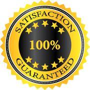 Satisfaction Guaranteed Badge - stock illustration