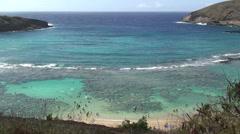 Hanauma Bay in Oahu, Hawaii - stock footage