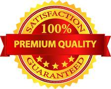 Premium Quality Satisfaction Guaranteed Badge - stock illustration
