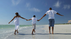 African American Family Healthy Outdoors Lifestyle Stock Footage