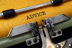 advice concept - stock photo