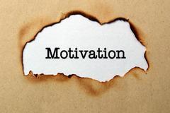 Motivaatio tekstiä paperille reikä Kuvituskuvat