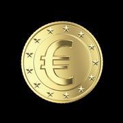 euro coin - stock illustration