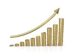 investment 3d graph - stock illustration