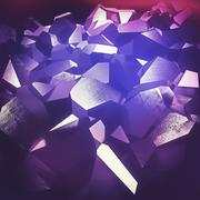 Purple crystals Stock Illustration