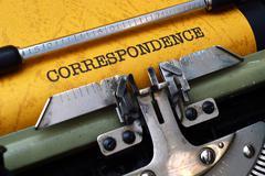 Stock Photo of correspondence