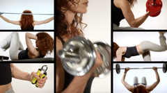 Fitness woman activity Stock Footage