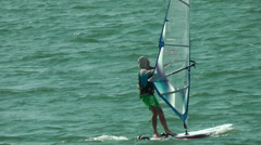 Wind surfing Stock Footage