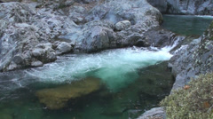 Mystical Waterfall with Mountain Cliffs - stock footage