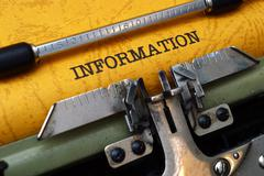 Stock Photo of information