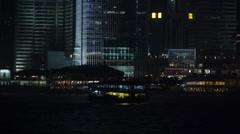 Ship near the HongKong's shore. - stock footage