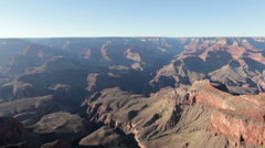 Grand Canyon static shot of valley Stock Footage