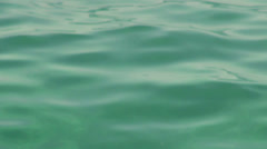 Beautiful green water, calm sea, waveform, meditation, background, Stock Footage