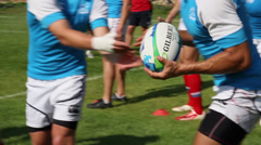 Rugby men team of Russia Stock Footage