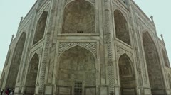 Tilt up shot of the Taj Mahal Stock Footage