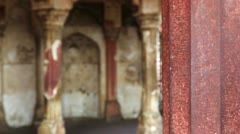 Shot of architectural detail of Agra Fort Stock Footage