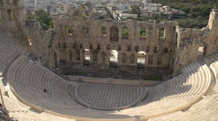Odeon of Herodes Atticus wide shot Stock Footage