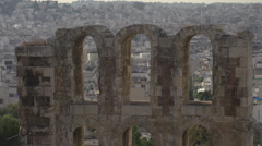 Odeon of Herodes Atticus detail Stock Footage
