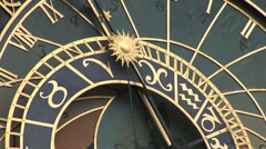 Prague Astronomical Clock Detail - Prague Orloj Stock Footage