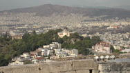 Stock Video Footage of Athens skyline, medium shot