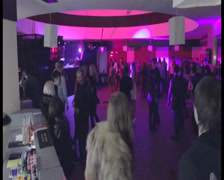 Timelapse of filling dance floor. People come, get drinks, dance, click for HD Stock Footage