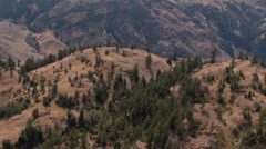 Aerial shot over Southern Okanagan Stock Footage