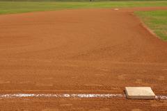 Baseball field from third base Stock Photos