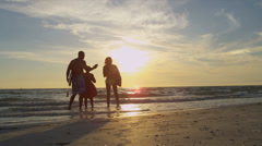 African American Family Surfing Beach Vacation Lifestyle - stock footage