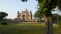 Shaky shot of a mosque Stock Footage