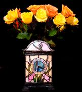 Roses and clock Stock Photos