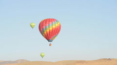 Hot Air Balloon over Reno Nevada Stock Footage