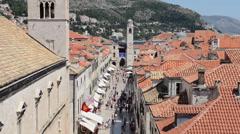 Old Town Dubrovnik in Croatia - stock footage