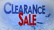 Stock Video Footage of Clearance Sale with Snow and Ice
