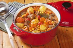 an interesting french stew known as boeuf daniell, this has beef, carrots and - stock photo