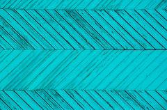 Angular blue strips of wood Stock Photos