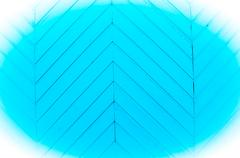 angular blue strips of wood - stock photo