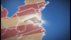 USA map, Maryland pull out, all states available, click for HD - stock footage