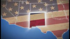 USA map, New Mexico pull out, all states available, click for HD - stock footage