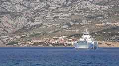 Adriatic Ferry 3 Stock Footage