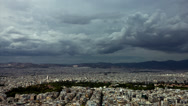 Stock Video Footage of Athens time lapse clouds