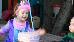 Tilt Birthday Girl Stock Footage