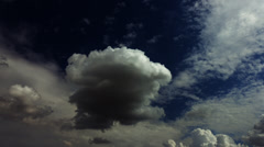dramatic dark clouds time lapse cloudscape high contrast - stock footage