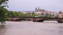 Prague Floods 2013 Stock Footage
