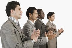 Businessmen applauding Stock Photos