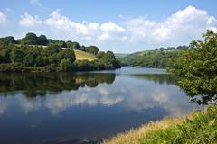 Lliw reservoir near swansea Stock Photos