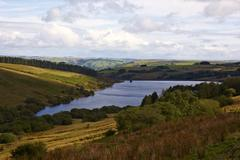 Crai Reservoir in the Beacons National Park in South Wales Stock Photos