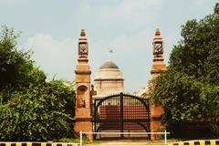 Entrance of a government building, Rashtrapati Bhawan Presidential Palace, New - stock photo