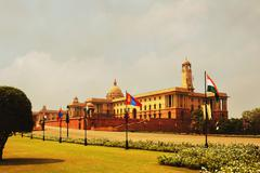 Stock Photo of Facade of a government building, Rashtrapati Bhawan, New Delhi, India